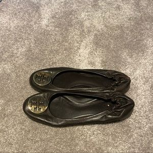 Chocolate Brown Tory Burch Flats